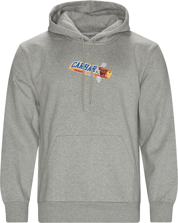 Chocolate Bar Hoodie - Sweatshirts - Regular fit - Grå